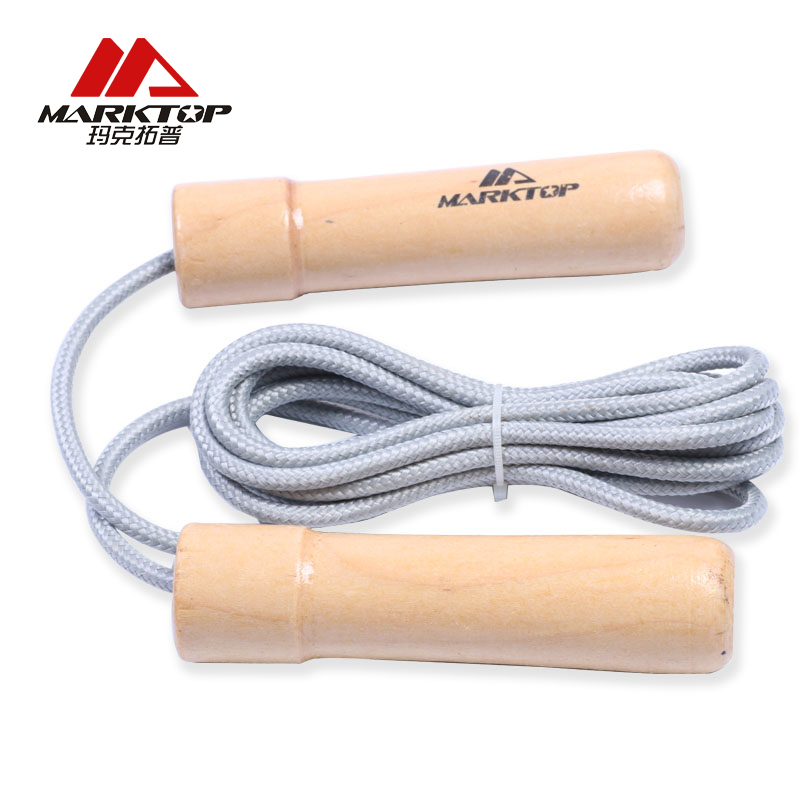 Marktop Jump Ropes Cord Speed Fitness Aerobic Jumping Exercise Equipment Wooden Handle Boxing Skipping Sport Rope M4013