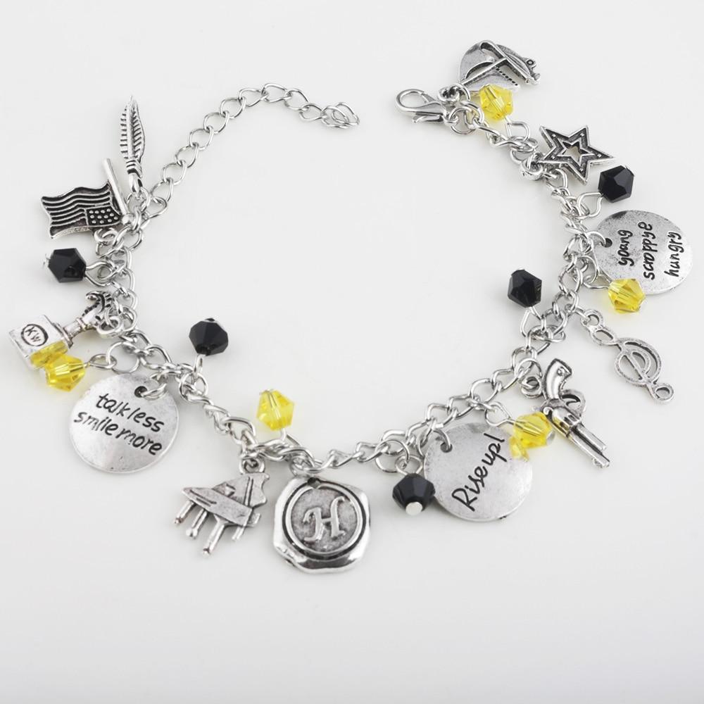 Music Ha milton Hamilton Broadway Musical Rise upStar,Gun,Music Symbol,Leaf Bracelet & Bangles wristlet JEWELRY