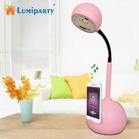 Lumiparty ledテーブルランプbluetooth &サウンドエフェクトソフトライトアイケアタッチスイッチ調光デスクライトusb充電
