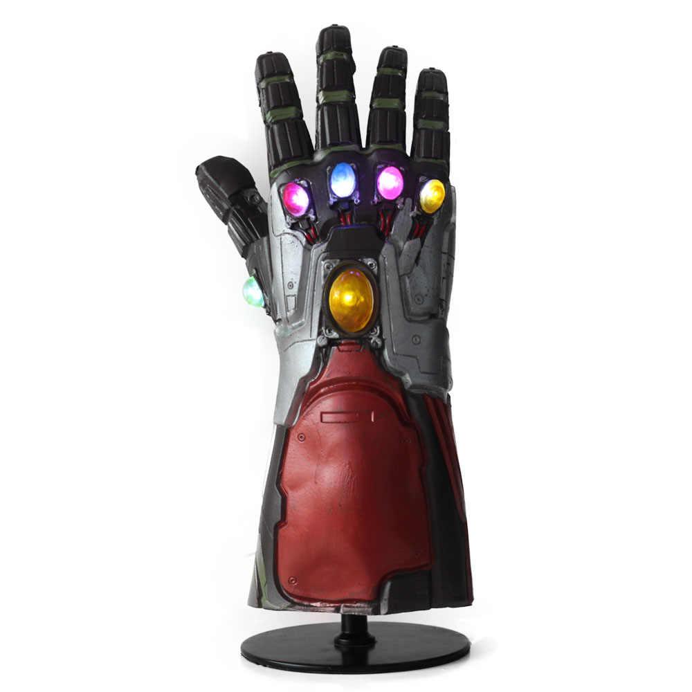 Đèn Led Endgame Siêu Anh Hùng Người Sắt Tony Stark Vô Cực Đính Đá Cosplay Găng Tay Cánh Tay Áo Giáp Tay Nhẹ Mới Cao Su Loại