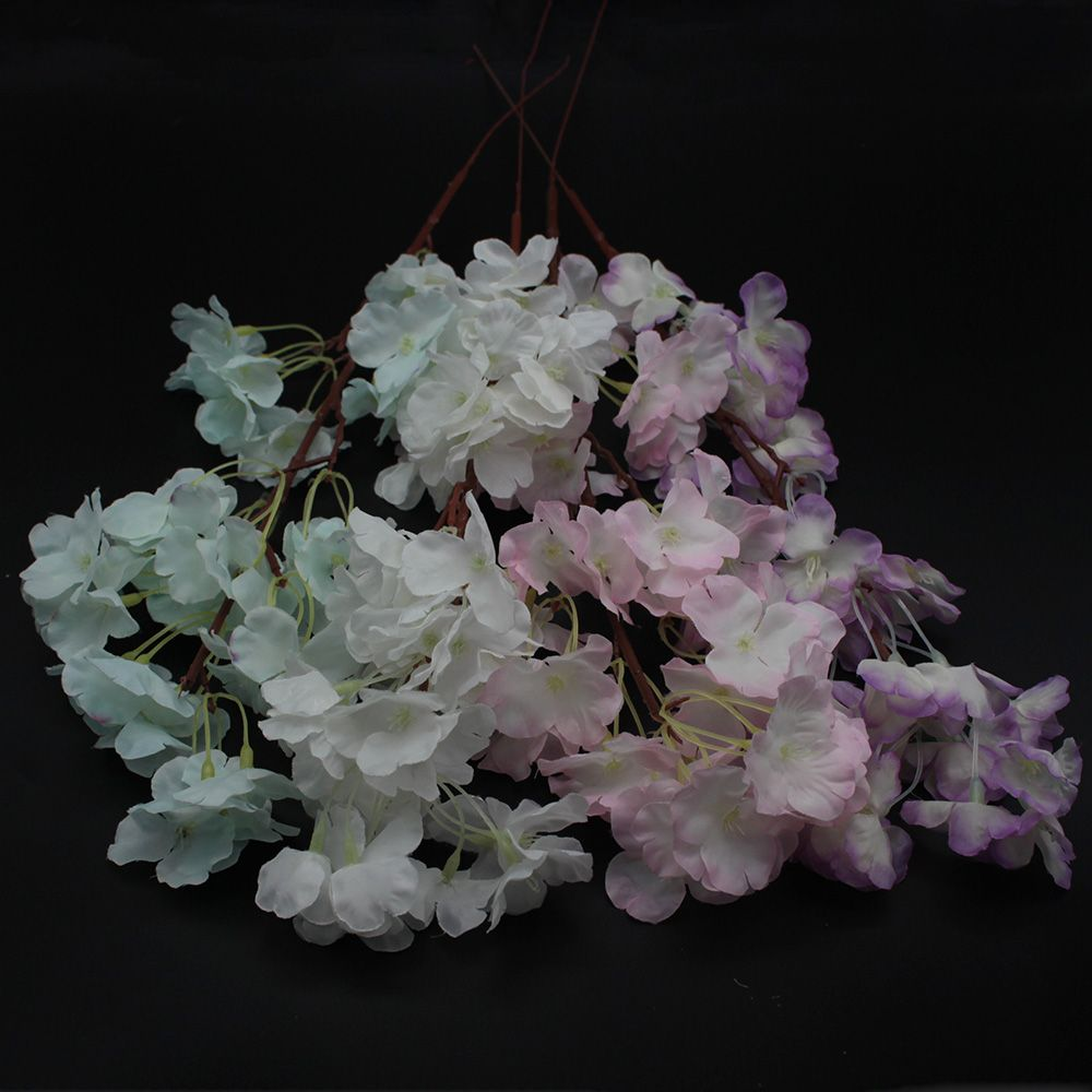 Home Decor Peach Blossom Cherry Plum Branch Silk Flowers Wedding Bouquet Useful
