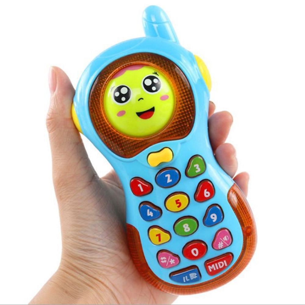 Electronic Mobile Phone Toys Colorful Baby Music Light Cellular Phone Toy Musical Cellphone Enlightment Educational Toy