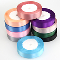 22M/Lot Pretty Silk Satin Ribbon Width 15MM Wedding Party Decoration Invitation Card Gift Wrapping Christmas Supplies Biband
