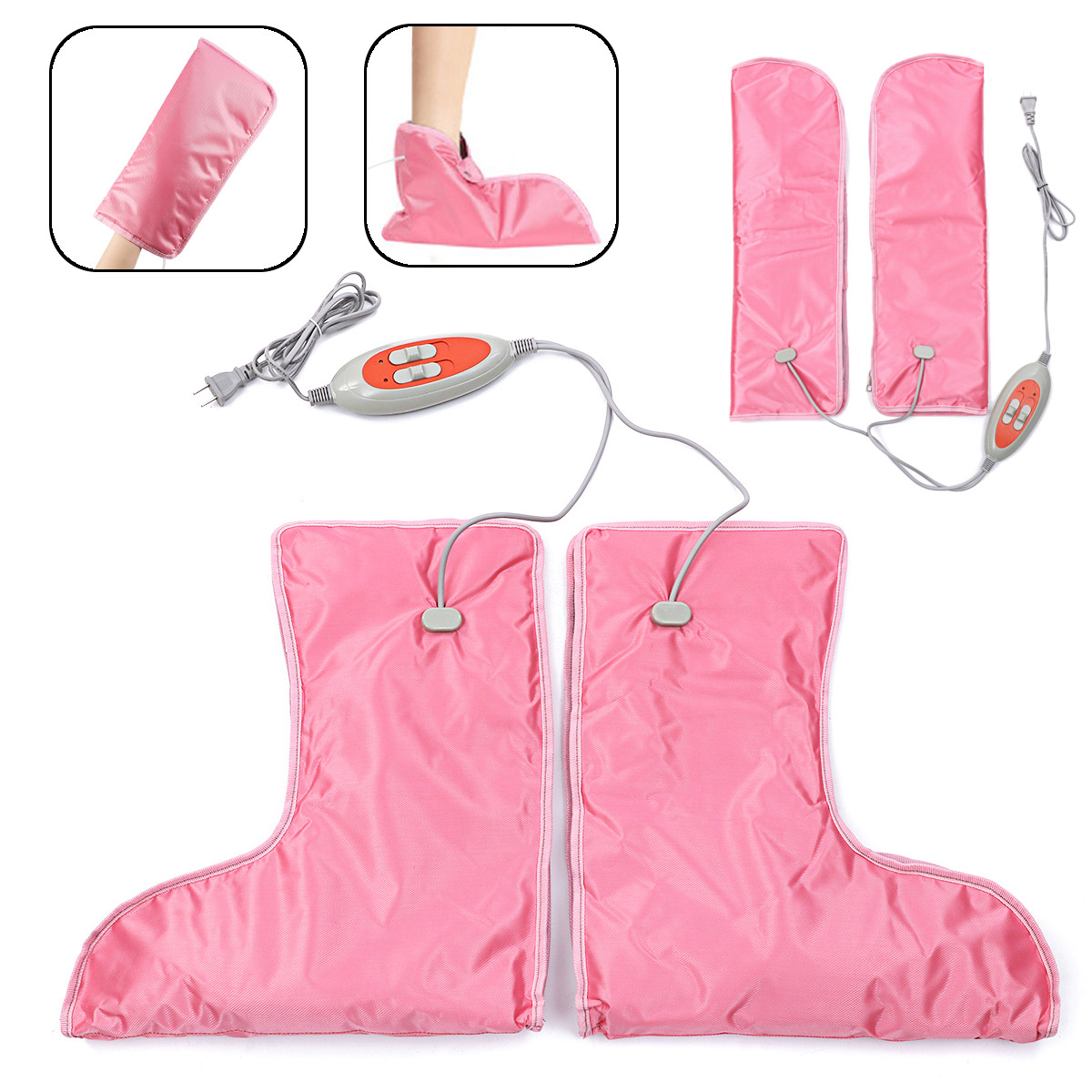 220 V gants chauffants électriques mitaines traitement de thérapie infrarouge pied main plus chaud manucure soins Nail Art équipement outils 45 W ~ 60 W