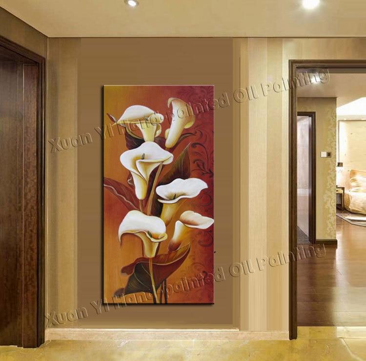 100 dipinto a mano dipinti di fiori su tela di canapa for Quadri di fiori ad olio