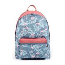 FADISH Korean 3D Flamingo Cartoon Printing Backpack Stitching Floral Casual Daily Travel Bag Teenagers School Bag Mochila(China)