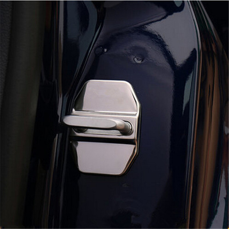 New Silver AMG Door Lock Cover Decoration protection Prevent Rust