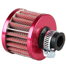 Dia 12mm Red Car Auto Motor Vehicle Air Filter Cold Air Intake Filter Cleaner Turbo Vent Crankcase Breather Car Accessories
