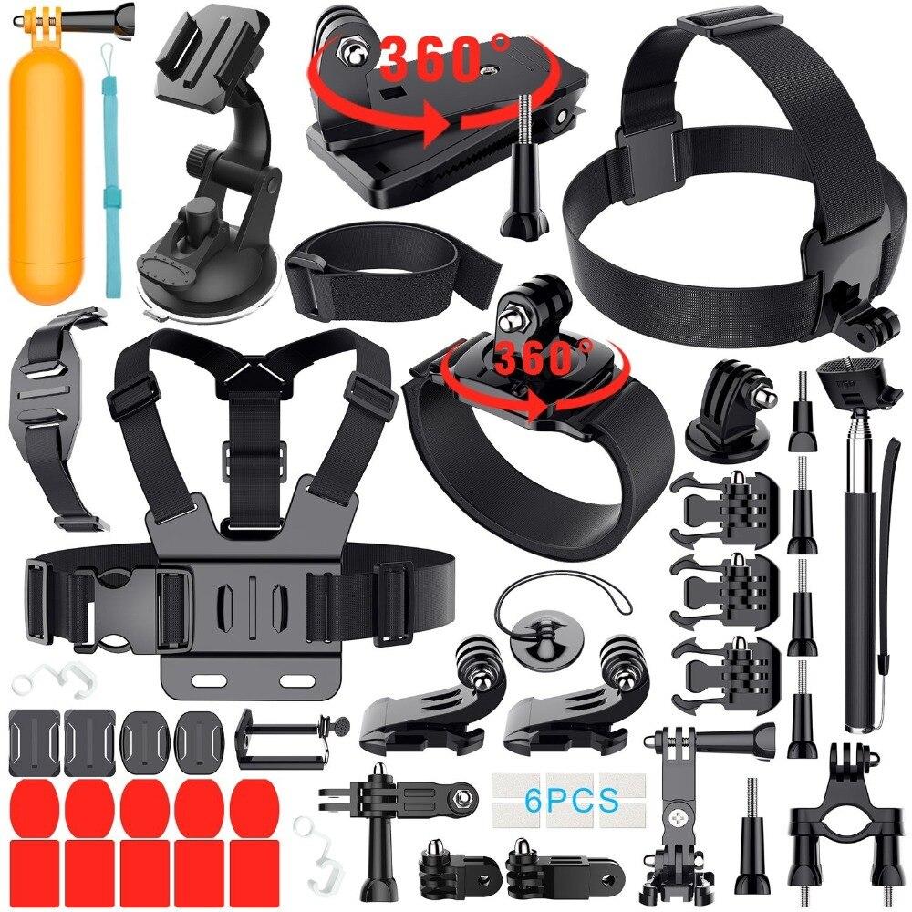 Sports de plein air Combo 40-en-1 D'action Caméra Kit D'accessoires pour GoPro Hero Session DBPOWER AKASO VicTsing APEMAN Kit 40 accessoires