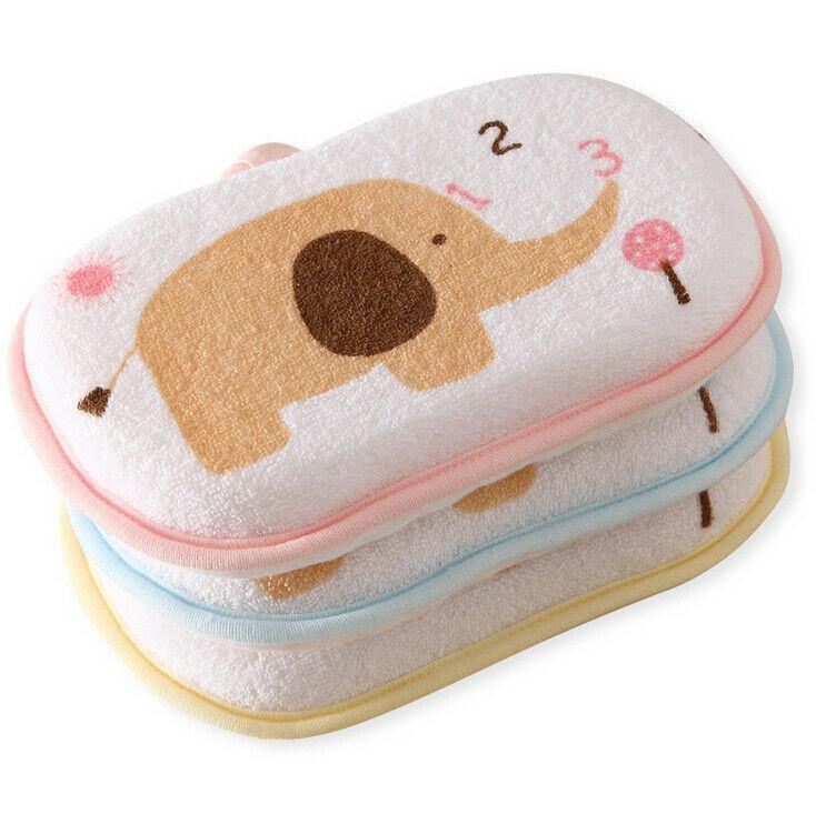 Baby Kids Cute Elephant Bath Brushes Bath Sponge Baby Shower Convenient Product Children Baby Rubbing Body Wash Sponge Cotton