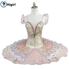 free shipping gold professional tutu for girls nutcracker ballet costumes pancake costume BT9110