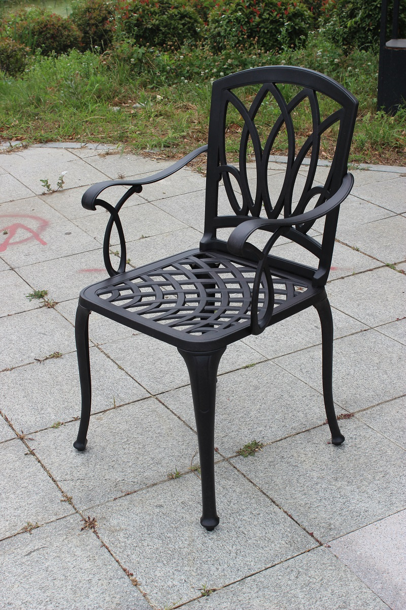 US $9.9 set of 9 pcs NEW Cast aluminum chairs patio knock down garden  furniture Outdoor furniture durable without cushionsGarden Furniture Sets  -