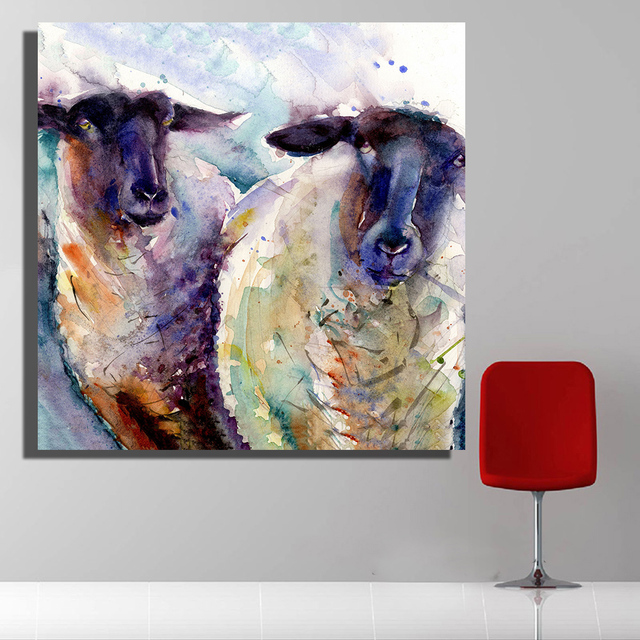 Oil Painting Goat Modern Prints For Living Room Home Decoration Art Free  Shipment No Frame Home