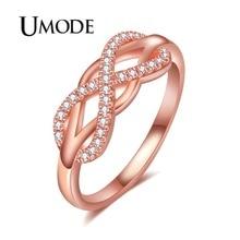 UMODE 2018 New Fashion Eternity Design Zircon Ring for Women Clear Zirconia Rings Anillo Mujer Moda Infinite Fashions AUR0444
