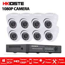 AHD 8CH 1080P CCTV Security System 8PCS 2.0MP IR Indoor AHD 1080P Video Surveillance Security Cameras 8 channel 1080N DVR Kit