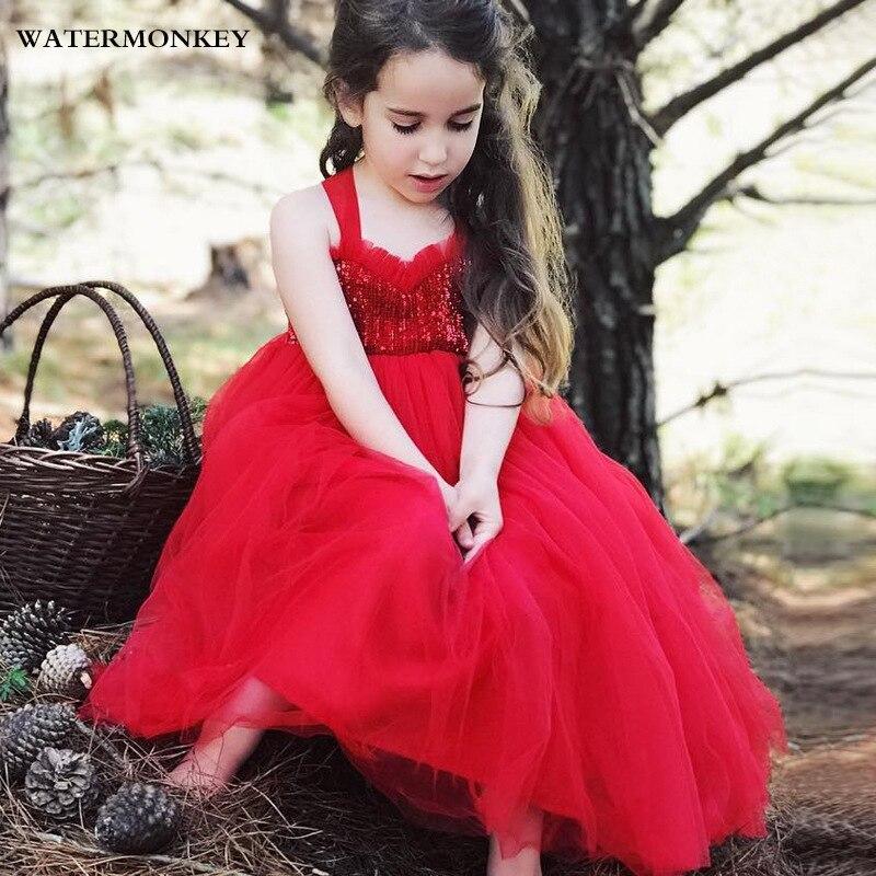 Sukienka dla dziewczyn 2018 Summer Sequined Lace Tutu Tulle Wedding - Ubrania dziecięce - Zdjęcie 1