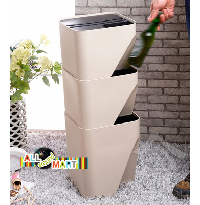 Large Home Kitchen Office Small Recycle Bin Can Waste Garbage ...