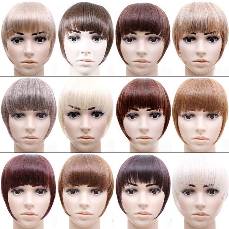 Jeedou Synthetic Hair Bangs 2Clips Clip In Hårförlängning 30g - Syntetiskt hår