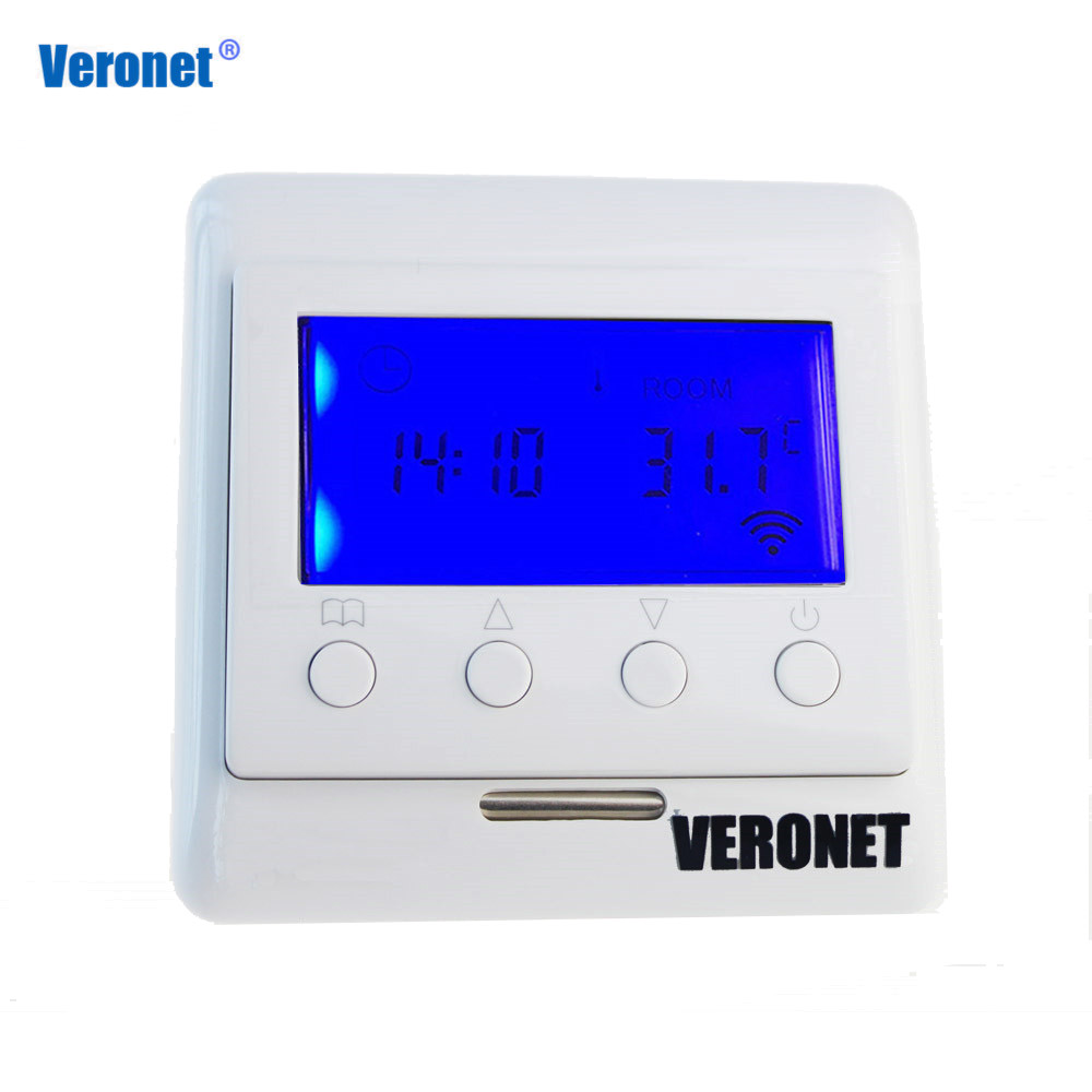 цена на Veronet Z-Wave Plus Thermostat Floor Heating Control Wireless Electric Heating System work Fibaro and Vera Smart Home Automation