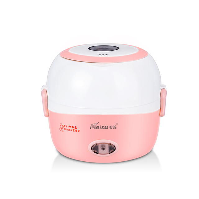 Portable Electric Lunch Box Mini Rice Cooker Steamer Multicooker Kitchen Appliance Office Home Use Appliances