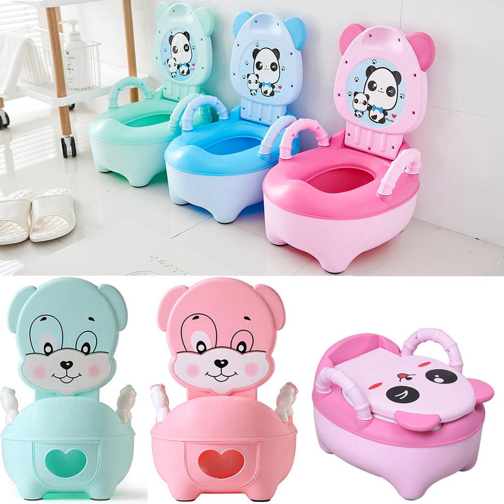 New Baby Potty Training Seat Children's Potty Baby Toilet Cartoon Panda Kids Toilet Trainer Bedpan Portable Urinal Backrest Pot