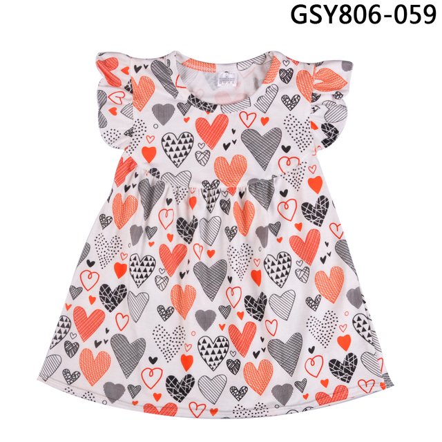 Hot Sale Wholesale Price Girls Dresses 2018 Back To School Kids