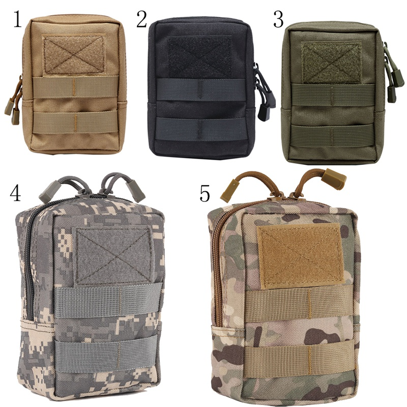 Outdoor EDC Bag Multi function Portable Military Tactical Pocket Durable Molle Tool Zipper Pockets Accessories-in Pouches from Sports & Entertainment