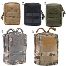 Outdoor EDC Bag Multi function Portable Military Tactical Pocket Durable Molle Tool Zipper Pockets Accessories