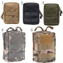 купить Multifunctional Portable Outdoor Military Tactical Waist Bag EDC Molle Tool Zipper Waist Pack Accessory Durable Belt Pouch по цене 237.59 рублей