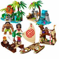 515 pièces Vaiana Moanas océan Voyage restaurer le coeur de Te Fiti ensemble blocs de construction Maui jouets compatibles avec des amis