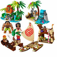 515Pcs Vaiana Moanas Ocean Voyage Restore The Heart Of Te Fiti Set Building Blocks Maui Toys Compatible with legoinges Friends