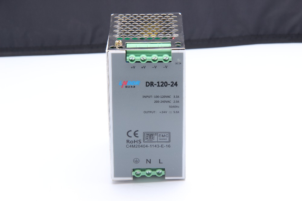 купить high quality Din rail Single Output Switching power supply DR-120-12 24V 48V 120W 12V 10A 24V 5A 48V 2.5A ac dc converter недорого