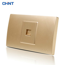 CHINT Electric Internet Socket 118 Type NEW5D Steel Frame One Networking Line A Computer Panel