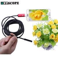 Antscope 2IN1 Android Endoscope 8MM Mini Waterproof Camera Endoscopio 2M 5M 10M OTG Car Inspection USB
