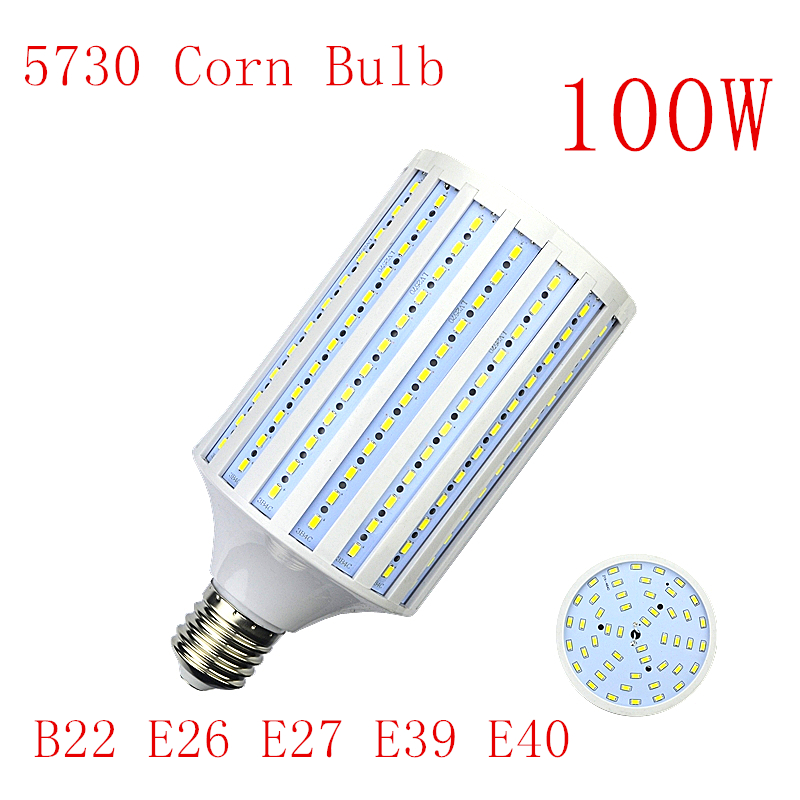 E26 E27 LED Lamp E39 E40 LED Bulb SMD5730 110V 220V 100W 264LEDs Corn Bulb Light Bulb Pendant Lighting Corn Spot Light
