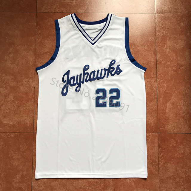 d91c6289271  22 Andrew Wiggins Kansas Jayhawks KU Throwback College Basketball Jersey  white Embroidery Stitched