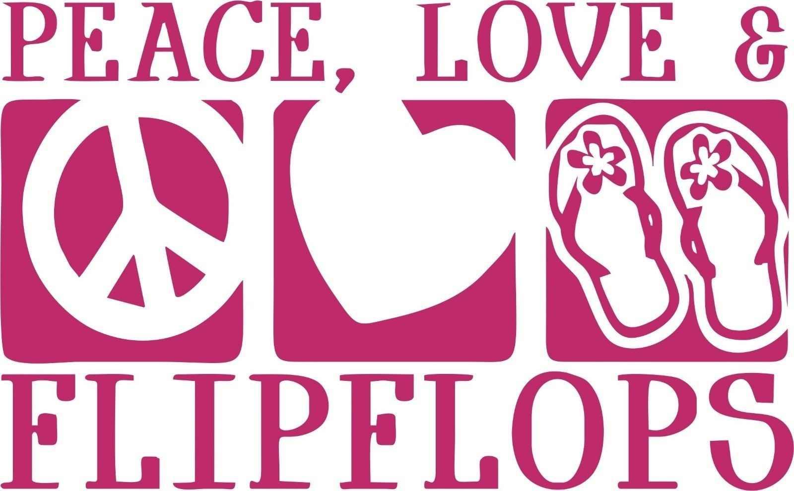 Per Flip Flop del Segno di Pace del Cuore di amore di Camion della Finestra di Automobile Della Parete Del Computer Portatile Della Decalcomania Del Vinile Sticker Vari Formati