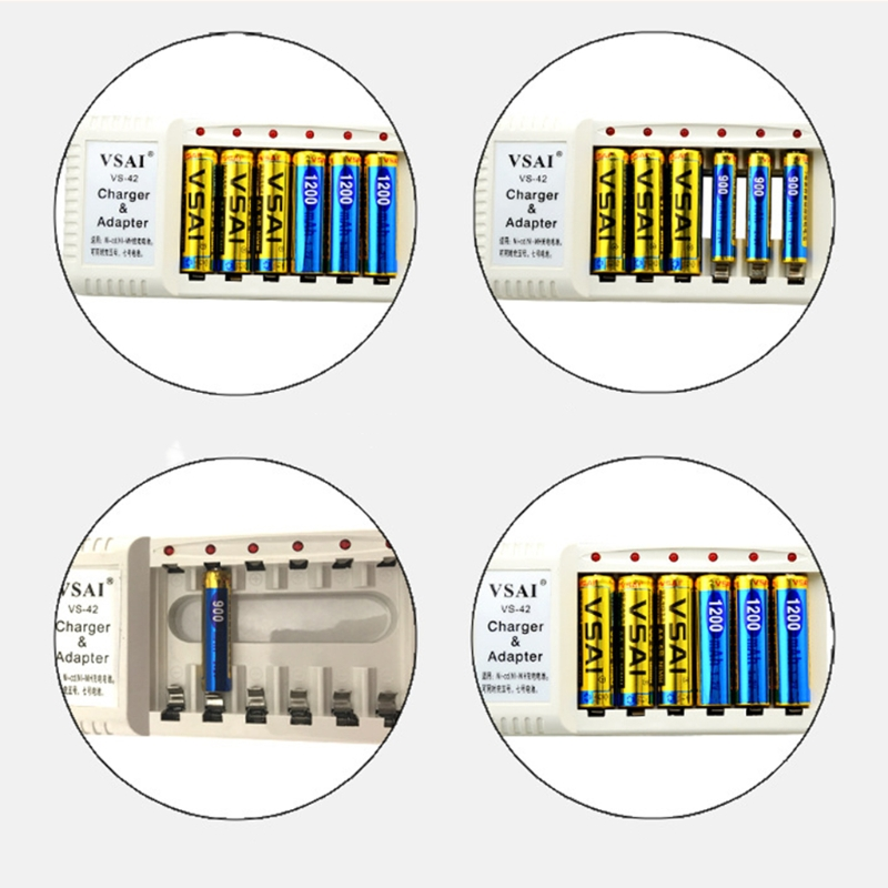 6 Slots LED Light Battery Charger For NI-MH NI-CD AA AAA Rechargeable Batteries Z07 Drop ship