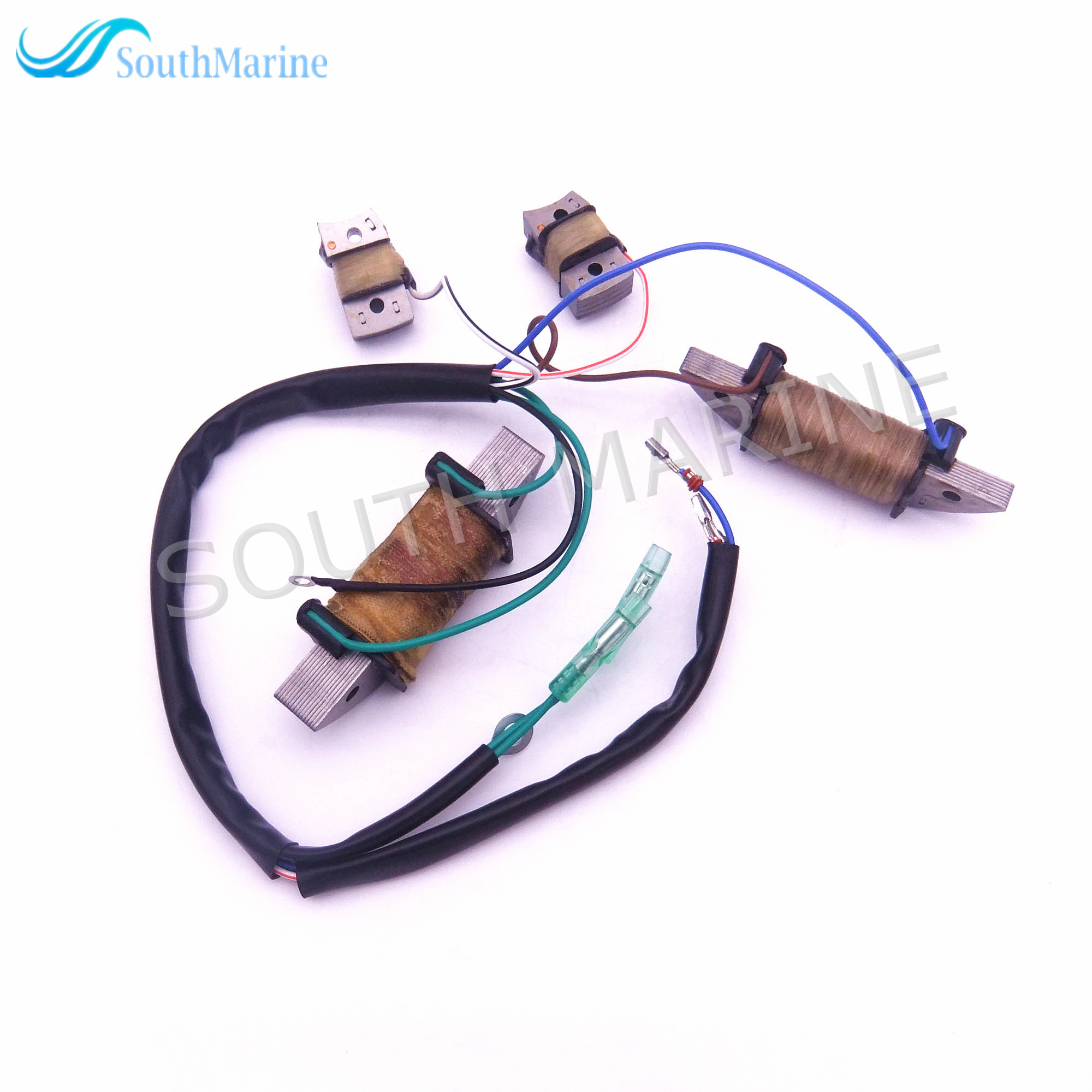 Boat Motor T36-04041000 Power Supply Coil Assy for Parsun 2-Stroke T36 T40J Outboard Engine