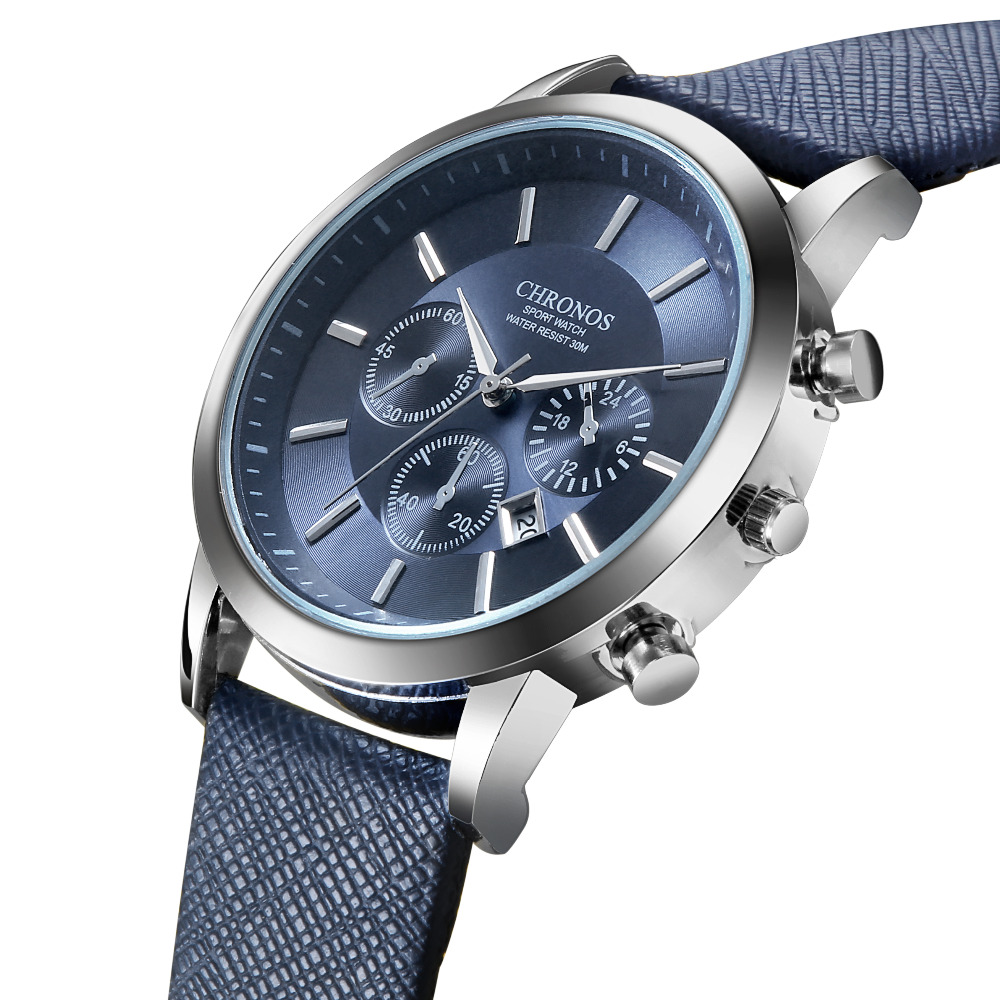 CHRONOS Watch Men Watch Auto Date Sport Mens Watches Top Brand Luxury Men's Watch Clock Kol Saati Relogio Masculino Reloj Hombre