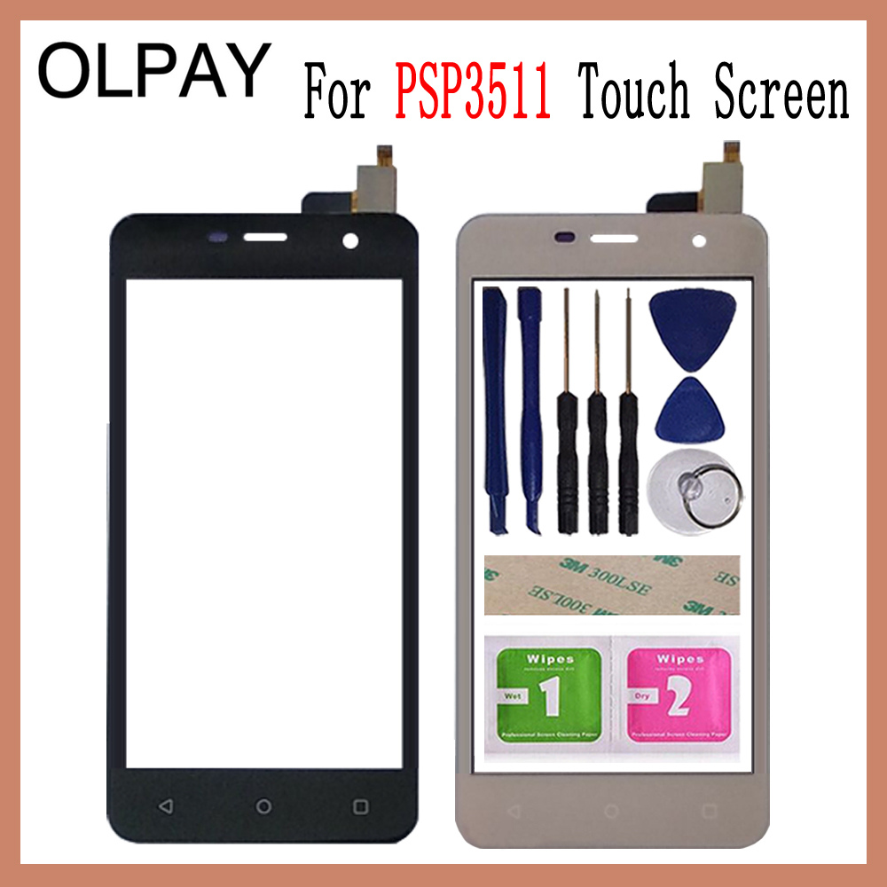 OLPAY 5.0'' For Prestigio Muze G3 Lte PSP3511 Duo PSP 3511 Touch Screen Glass Digitizer Panel Lens Sensor Glass Free Tools