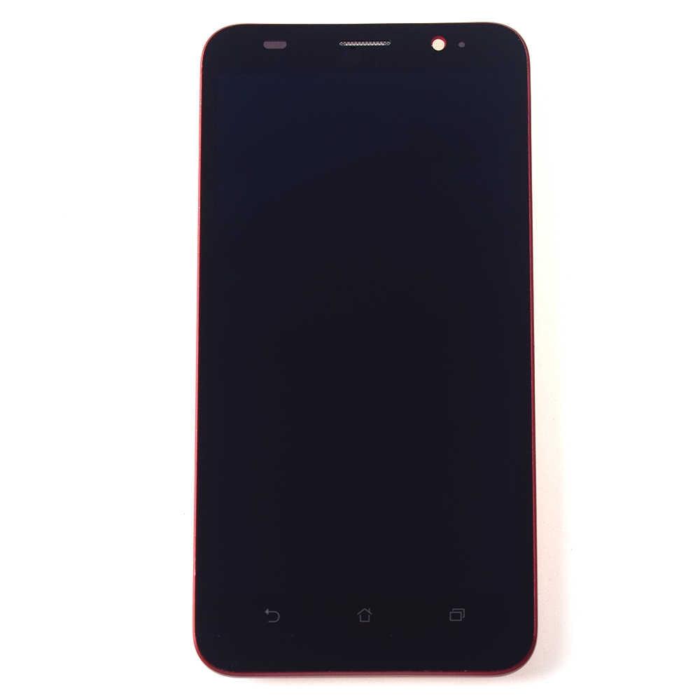 ل ASUS Zenfone 2 ZE551ML Z00AD Z00ADB Z00ADA محول الأرقام بشاشة تعمل بلمس لوح مستشعر الزجاج + جهاز مراقبة بشاشة إل سي دي الجمعية الإطار