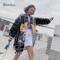 2019 Spring sequin shirts women fashion women chic loose long shirts