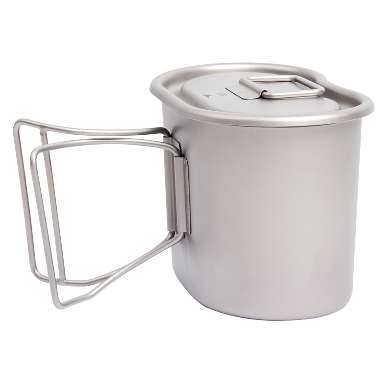 1800ml Titanium Cup Pot Dinner Set Ultralight Outdoor Tableware Kit Travel Camping Marching Pot Water Kettle Dinner Box Cookware
