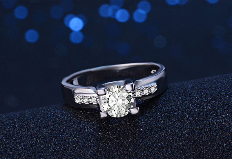 Европейская мода anillos Обручальные кольца роза бело-золотые золото Цвет Обручальные кольца для Для женщин CZ камнем Promise Ring lsr103