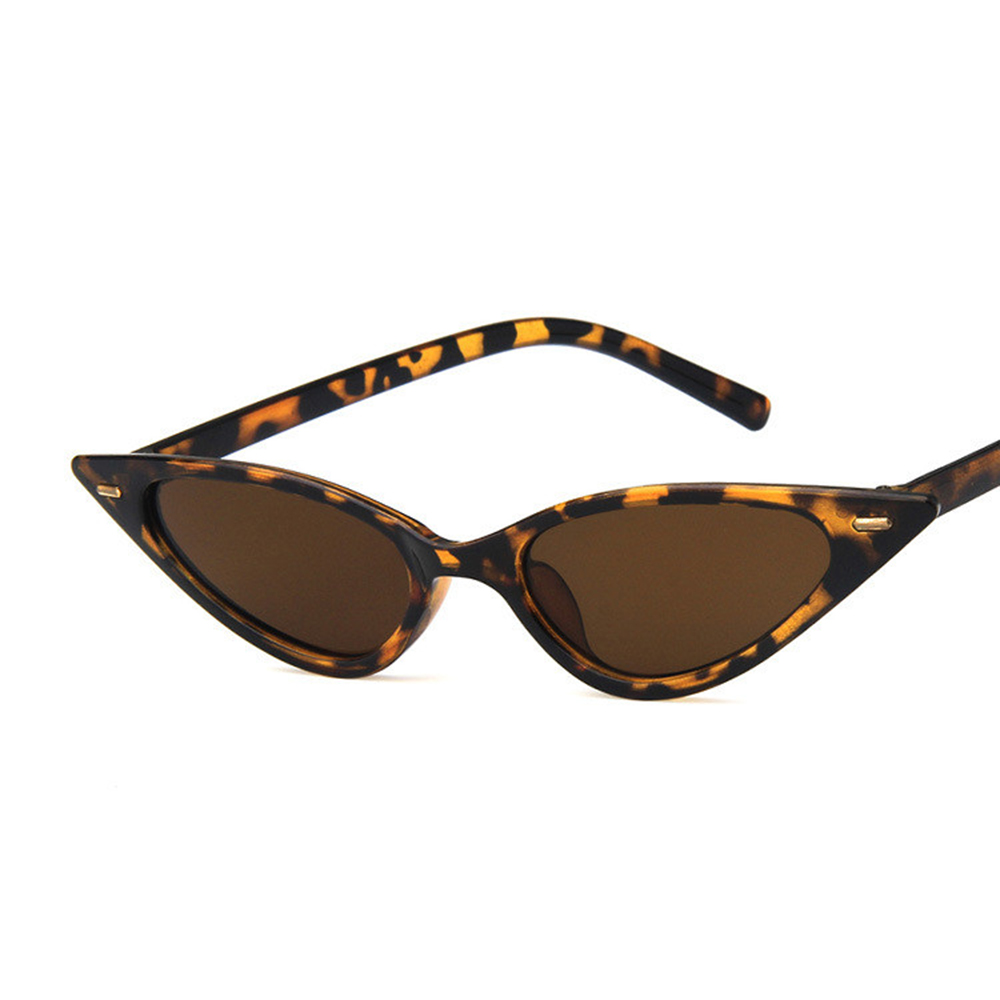 COOYOUNG النساء مثير القط العين النظارات الشمسية العلامة التجارية مصمم مثلث صغير Vintage نظارات شمسية ريترو Cateye نظارات UV400
