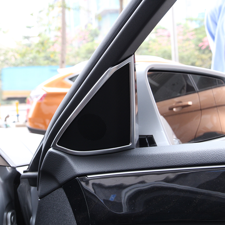 Chrome Intérieur Accessoire Porte Haut-Parleur Couverture Garniture Pour Mercedes Benz Classe E W212 2012-2015 Accessoire
