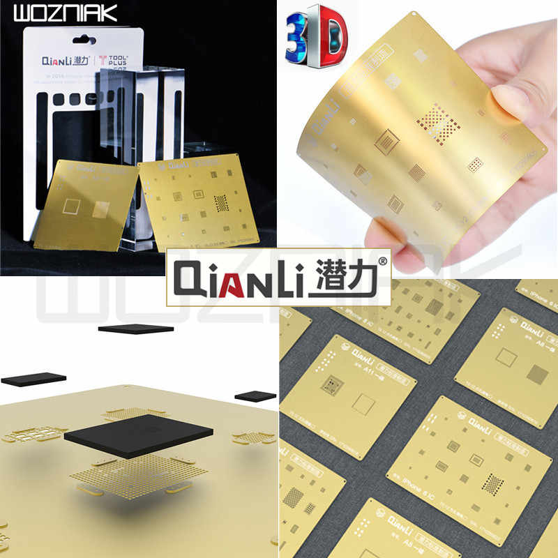 Image result for QianLi 3D CPU BGA Reballing Gold Stencil Net for A12""