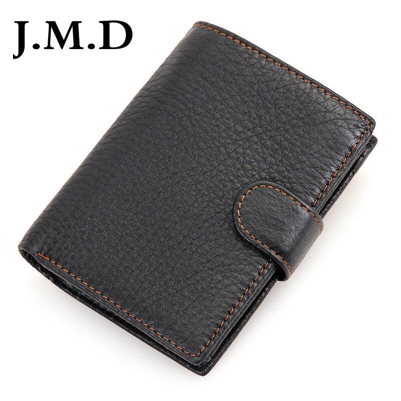 J.M.D Miltifunction RFID Blocking Wallet Genuine Leather Card Case Bifold Wallets 8129
