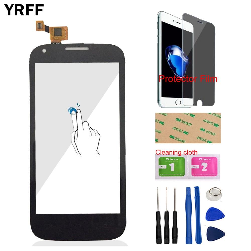 4.5 ''téléphone Mobile avant verre pour mouche IQ4406 ERA Nano 6 IQ 4406 écran tactile numériseur panneau capteur protecteur Film adhésif